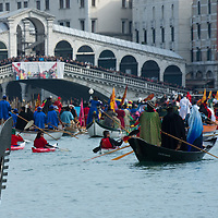 Today saw the second day of the Venetian Carnival, which runs till February 12th. A water procession took place on the Grand Canal