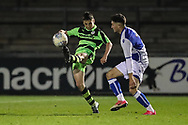 Forest Green Rovers Jacob Waddington(3) clears the ball during the The FA Youth Cup match between Bristol Rovers and Forest Green Rovers at the Memorial Stadium, Bristol, England on 2 November 2017. Photo by Shane Healey.