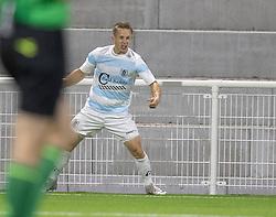 Jeppe Kjær (FC Helsingør) jubler efter scoringen til 4-2 under kampen i 1. Division mellem FC Helsingør og Silkeborg IF den 11. september 2020 på Helsingør Stadion (Foto: Claus Birch).