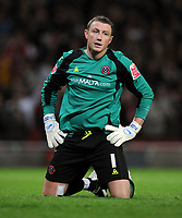 Fotball<br /> England<br /> Foto: Fotosports/Digitalsport<br /> NORWAY ONLY<br /> <br /> A Dejected Paddy Kenny as Arsenal's Youngsters thrash Sheffield United<br /> Sheffield United 2008/09<br /> Arsenal V Sheffield United (6-0) 23/09/08<br /> The Carling Cup