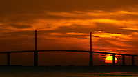 Sunshine Skyway Bridge at Sunrise from the East Beach at Fort DeSoto Park. Image taken with a Nikon D800 and 300 mm f/2.8 VR lens (ISO 100, 300 mm, f/11, 1/320 sec).