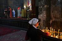 Armenie, Etchmiadzin, messe à l'eglise Saint Hripsime // Armenia, Etchmiadzin, mass at Saint Hripsime church
