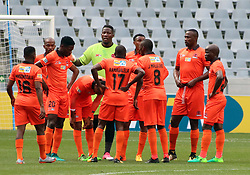 Polokwane City team shot v Cape Town City in an MTN8 quarter-final match at the Cape Town Stadium on August 12, 2017 in Cape Town, South Africa.