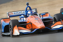 September 14, 2018 - Sonoma, CA, U.S. - SONOMA, CA - SEPTEMBER 14: Scott Dixon heads towards Turn 10 during the afternoon Verizon IndyCar Series practice for the Grand Prix of Sonoma on September 14, 2018, at Sonoma Raceway in Sonoma, CA. (Photo by Larry Placido/Icon Sportswire) (Credit Image: © Larry Placido/Icon SMI via ZUMA Press)