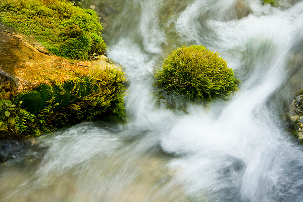 Stock photo of flowing water of the Llano River in the Texas Hill Country