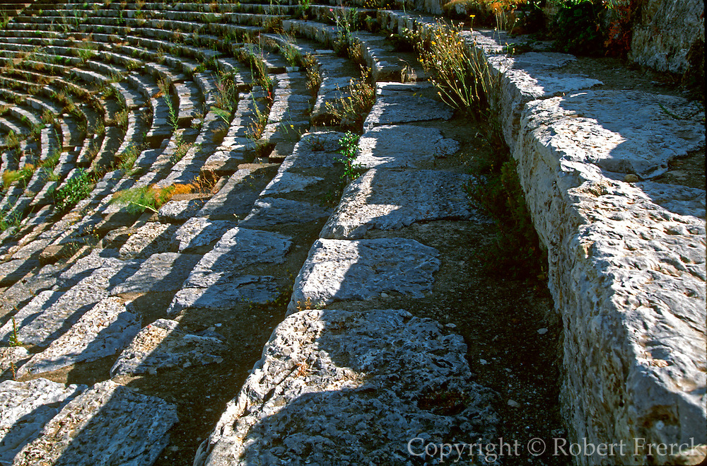 TURKEY, ROMAN CULTURE EPHESUS; the Great Theatre, 1stc. AD with seats that hold 25, 000 spectators in the best preserved Roman city