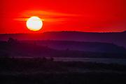 African sunset in the Masai Mara, Kenya