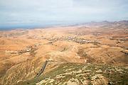View of barren interior, Valle de Santa Ines, Fuerteventura, Canary Islands, Spain
