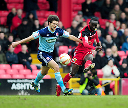 Bristol City's Albert Adomah scores the opening goal - Photo mandatory by-line: Dougie Allward/JMP - Tel: Mobile: 07966 386802 09/03/2013 - SPORT - FOOTBALL - Ashton Gate - Bristol -  Bristol City V Middlesbrough - Npower Championship