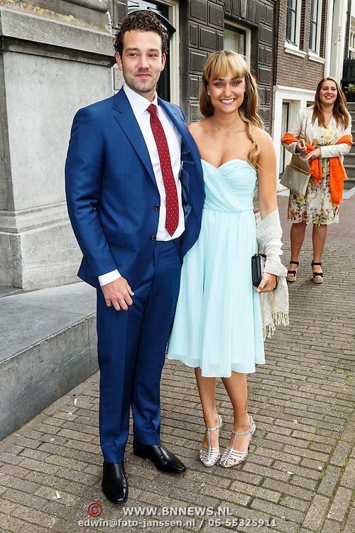 NLD/Amsterdam/20150620 - Huwelijk Kimberly Klaver en Bas Schothorst, Melody Klaver en partner