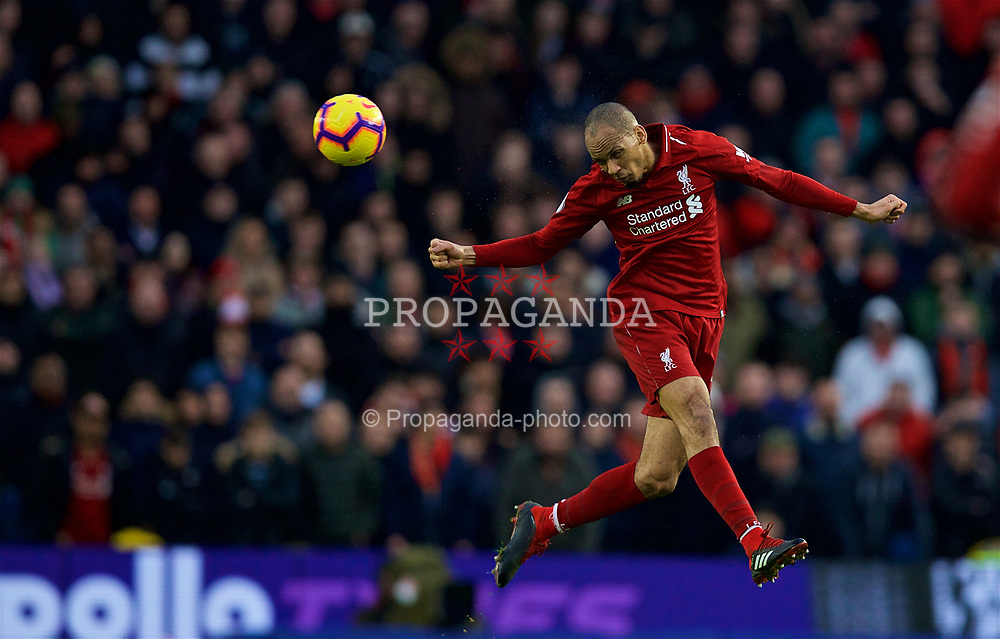 BRIGHTON AND HOVE, ENGLAND - Saturday, January 12, 2019: Liverpool's Fabio Henrique Tavares 'Fabinho' during the FA Premier League match between Brighton & Hove Albion FC and Liverpool FC at the American Express Community Stadium. (Pic by David Rawcliffe/Propaganda)