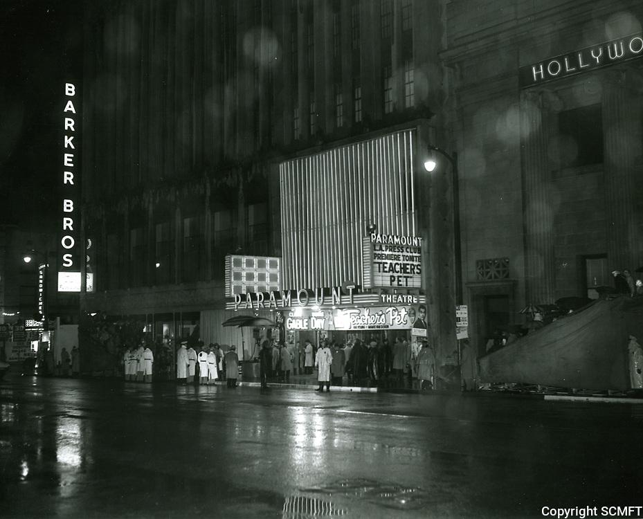 1958 Premiere of Teacher's Pet at the Paramount Theatre
