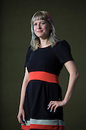 South African writer, journalist and critic Lauren Beukes, pictured at the Edinburgh International Book Festival where she talked about her new book entitled 'Broken Monsters'. The three-week event is the world's biggest literary festival and is held during the annual Edinburgh Festival. The 2014 event featured talks and presentations by more than 500 authors from around the world and was the 31st edition of the festival.