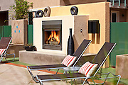 Community Pool With Outdoor Fireplace