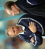 Fotball<br /> England<br /> 2004/2005<br /> 16.10.2004<br /> Foto: SBI/Digitalsport<br /> NORWAY ONLY<br /> <br /> Coventry City v Leicester City <br /> Coca Cola Championship.<br /> <br /> Howard Wilkinson and Dave Bassett together during the game.