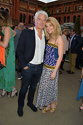 JOHN FRIEDA and his wife AVERY at the V&A Summer Party in association with Harrod's held at The V&A Museum, London on 22nd June 2016.