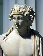 Detail from marble sculpture of Dionysus, god of wine. Roman, 2nd century AD.
