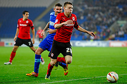 Cardiff Forward Joe Mason (IRL) in action during the second half of the match - Photo mandatory by-line: Rogan Thomson/JMP - Tel: Mobile: 07966 386802 23/10/2012 - SPORT - FOOTBALL - Cardiff City Stadium - Cardiff. Cardiff City v Watford - Football League Championship