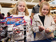 27/11/2016 REPRO FREE:  Annabelle O'Dea (9) and Erin O'Connor (9)  inNUI Galway as part of the Galway Science & Technology Festival.<br /> Photo: Andrew Downes, Xposure.