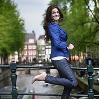 Nederland, Amsterdam , 17 mei 2012..Eliza Kucharska staat op nr 2 op de lijst van Miss Poland 2012 in Holland verkiezing..De Miss Poland verkiezing wordt voornamelijk georganiseerd om de Poolse gemeenschap in Nederland een beter imago te geven.Foto:Jean-Pierre Jans