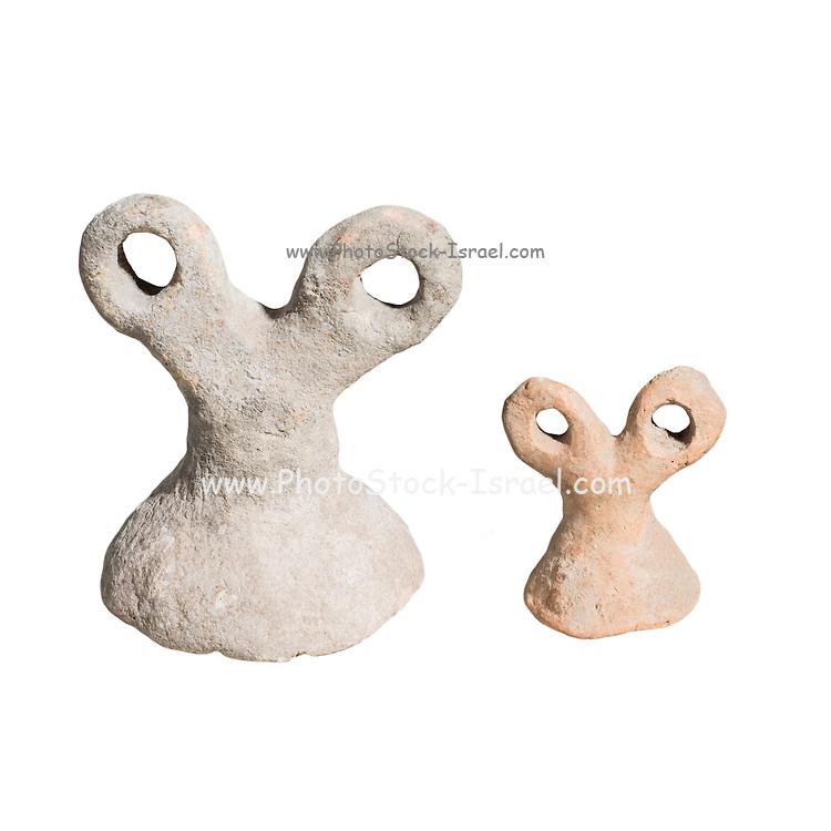 Mesopotamian terra-cotta eye idol Ca. 3300 BC