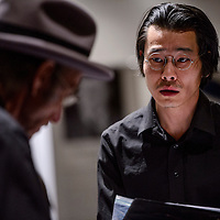 Heath Houghton portrays Japanese American activist and lawyer Minoru Yasui during a play at UNM-Gallup Monday.