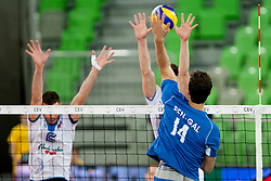 Guy Ben Gal #14 of Israel during qualifications match for FIVB Men's World Championship 2014 between National team Slovenia and Israel in pool B on May 24, 2013 in SRC Stozice, Ljubljana, Slovenia. (Photo By Urban Urbanc / Sportida)