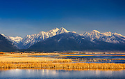Mission Mountains in spring, Montana.