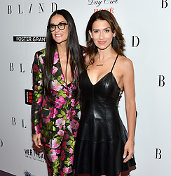 L-R: Actress Demi Moore and Hilaria Baldwin attend the NY premiere of Blind at the Landmark Sunshine Cinemas in New York, NY on June 26, 2017.  (Photo by Stephen Smith) *** Please Use Credit from Credit Field ***