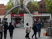Mr. Pretzels, Islington Green shopping centre. London.  20 April 2017