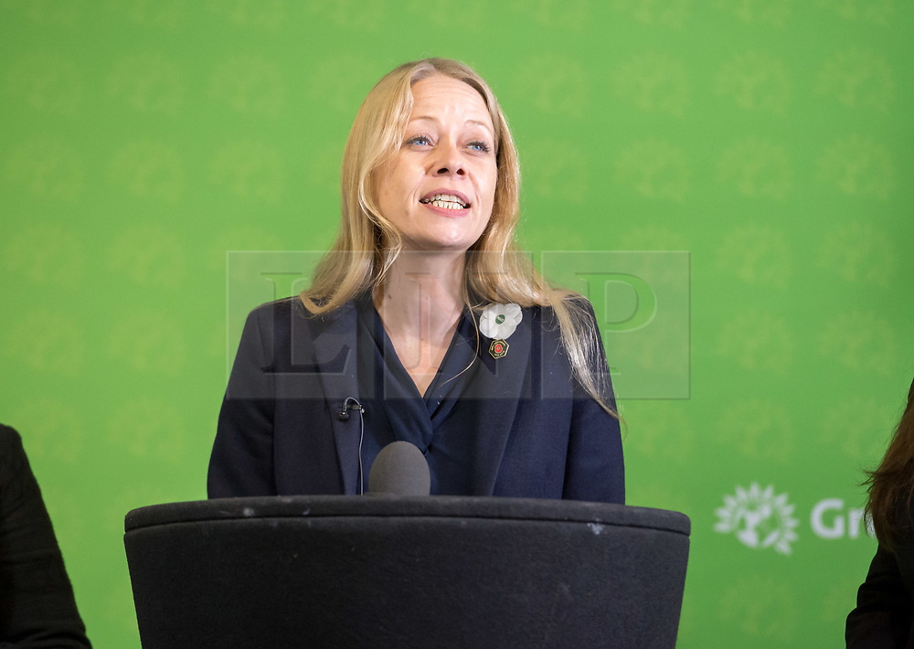 © Licensed to London News Pictures. 06/11/2019. Bristol, UK. General Election 2019; SIAN BERRY co-leader of the Green Party. The Green Party's national campaign event at We The Curious in Bristol Harbourside on the day of the official start of the general election campaign 2019. The Green Party are targeting the seat of Bristol West where the Labour MP Thangam Debbonaire has a large majority but where the Green candidate came first in the elections for the European Parliament. Photo credit: Simon Chapman/LNP.