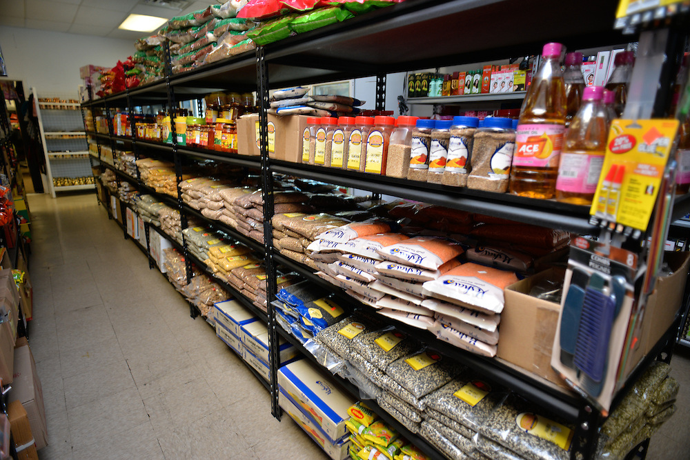 Items for sale at Dhimal's Mini Marts grocery store.