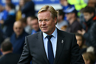 Everton Manager Ronald Koeman looks on prior to kick off. Premier league match, Everton vs Bournemouth at Goodison Park in Liverpool, Merseyside on Saturday 23rd September 2017.<br /> pic by Chris Stading, Andrew Orchard sports photography.