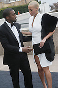 l to r: Kanye West and Amber Rose arrive at The Metropolitan Opera's 125th Anniversary Gala and Placido Domingo's 40th Anniversary Celebration underwritten by Yves Saint Laurent held at The Metropolitian Opera House, Lincoln Center on March 15, 2009 in New York City.