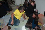 ERNESTO NETO, Bloomberg Venice Conversations, Siddhartha Mukherjee, Rirkrit Tiravanija and Tomas Vu Daniel cook lunch for Sarah Sze. Palazzo Peckham. Venice. Venice Bienalle. 31 May 2013