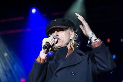 Edinburgh, United Kingdom. 9 December,2017. Sleep in the Park, held in Princes Street Gardens in Edinburgh, will see almost 9000 people sleep outdoors to raise money and awareness of homelessness. The event is organised by Social Bite and starts with a music concert. Bob Geldof addresses the audience.