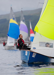 Largs Regatta Week 2015, hosted by Largs Sailing Club and Fairlie Yacht Club<br /> <br /> GP14, 13460, Alzurra, GP14, Peter Collings, Natalie Fuller CSSC<br /> <br /> Credit Marc Turner