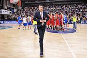 DESCRIZIONE : Campionato 2014/15 Serie A Beko Semifinale Playoff Gara4 Dinamo Banco di Sardegna Sassari - Olimpia EA7 Emporio Armani Milano<br /> GIOCATORE : Luca Banchi<br /> CATEGORIA : Allenatore Coach Ritratto Delusione Postgame<br /> SQUADRA : Olimpia EA7 Emporio Armani Milano<br /> EVENTO : LegaBasket Serie A Beko 2014/2015 Playoff<br /> GARA : Dinamo Banco di Sardegna Sassari - Olimpia EA7 Emporio Armani Milano Gara4<br /> DATA : 04/06/2015<br /> SPORT : Pallacanestro <br /> AUTORE : Agenzia Ciamillo-Castoria/L.Canu<br /> Galleria : LegaBasket Serie A Beko 2014/2015