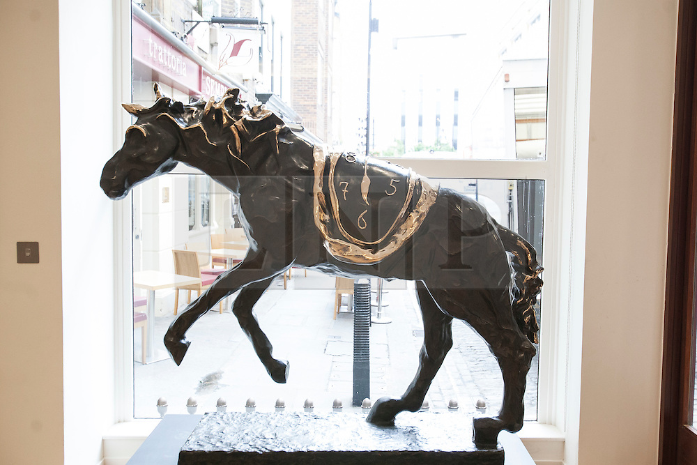 © licensed to London News Pictures. London, UK 15/06/2012. An imposing bronze horse by Salvador Dali expected to be sold for £200.000 - £300.000 by Bonhams on 19/06/12. Photo credit: Tolga Akmen/LNP
