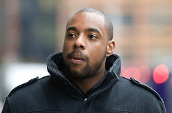 © Licensed to London News Pictures. 12/01/2012. London, UK. Former Essex cricketer Mervyn Westfield arriving at The Old Bailey, London on January 12th, 2012 to faces charges of conspiracy to defraud during a one-day 40-over match between Durham and Essex on September 5 2009. Photo credit : Ben Cawthra/LNP