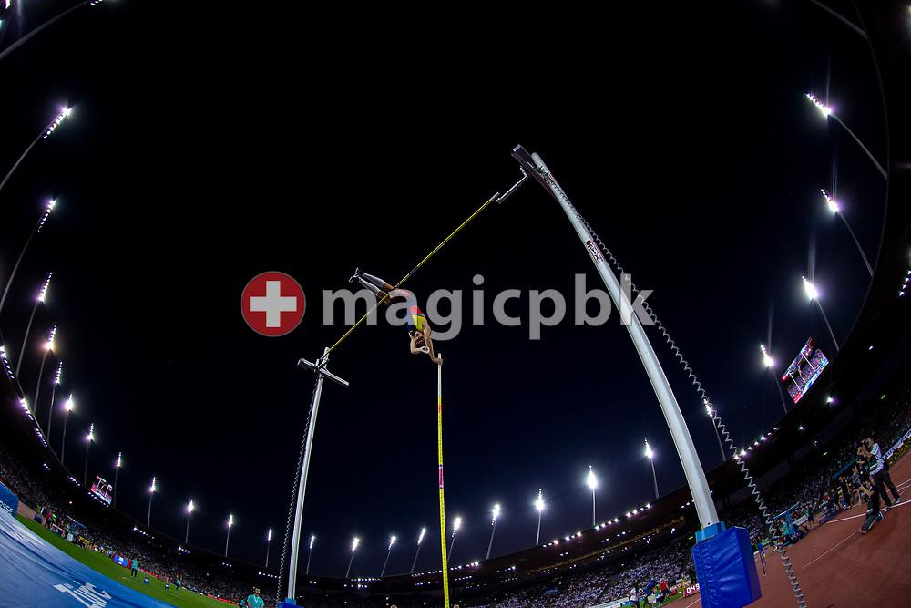 Armand DUPLANTIS of Sweden competes in the Men's Pole Vault during the Iaaf Diamond League meeting (Weltklasse Zuerich) at the Letzigrund Stadium in Zurich, Switzerland, Thursday, Aug. 29, 2019. (Photo by Patrick B. Kraemer / MAGICPBK)