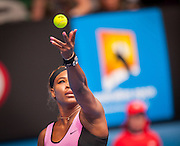 Serena Williams (USA) fell to A. Ivanovic (SRB) in the fourth round of the Australian Open Women's Singles. Williams, the number one tournament seed and number one women's player in the world struggled early on with her game. Ivanovic won 6-4, 3-6, 3-6 at Melbourne's Rod Laver Arena. Serena Williams at play in the Australian Open in Melbourne, Victoria, Australia