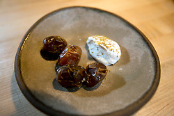 Bahri dates with hazelnut crema, at The Progress restaurant, Tuesday, Dec. 15, 2015, in San Francisco, Calif. (Photo by D. Ross Cameron)