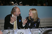 Ed Victor and Marie Chantal of Greece. Launch dinner for Island Beauty by India Hicks hosted by Charles Finch and Harvey Nichols Fifth Floor Restaurant. London. .  14  November 2005 . ONE TIME USE ONLY - DO NOT ARCHIVE © Copyright Photograph by Dafydd Jones 66 Stockwell Park Rd. London SW9 0DA Tel 020 7733 0108 www.dafjones.com