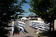 Poznan, POLAND, 20 June 2019, Thursday, General View, Boat Park, FISA World Rowing Cup II, Malta Lake Course, © Peter SPURRIER/Intersport Images,<br /> <br /> 12:36:20