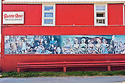 Alaska, Haines.  Photographs  adorn the exterior of the Bamboo Room.