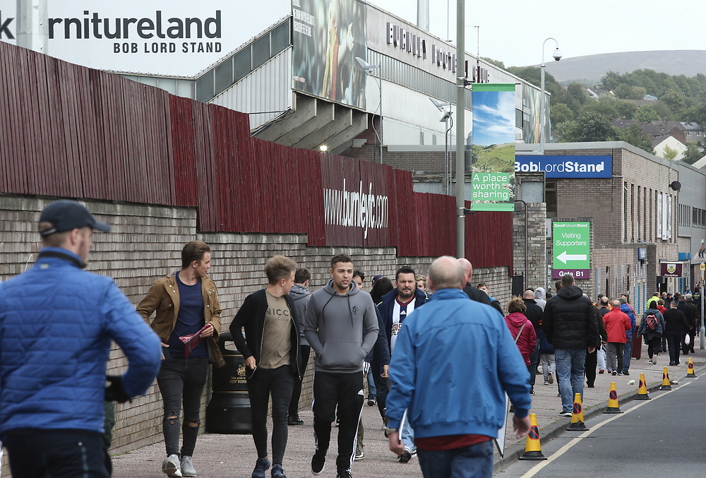 Burnley fans arrive at Turf Moor ahead of kick-off<br /> <br /> Photographer Rich Linley/CameraSport<br /> <br /> The Premier League - Burnley v West Bromwich Albion - Saturday 19th August 2017 - Turf Moor - Burnley<br /> <br /> World Copyright © 2017 CameraSport. All rights reserved. 43 Linden Ave. Countesthorpe. Leicester. England. LE8 5PG - Tel: +44 (0) 116 277 4147 - admin@camerasport.com - www.camerasport.com