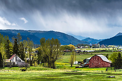 Thunder storm at the Griffel Ranch in Swan Valley Idaho.  A rural landscape that is in  diminishing supply.