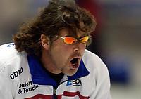 Skøyter: Verdenscup Heerenveen 12.01.2002. Peter Muller.<br /><br />Foto: Ronald Hoogendoorn, Digitalsport