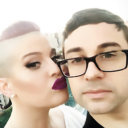 """Kelly Osbourne releases a photo on Instagram with the following caption: """"The two munchkins are together again!!! \ud83d\ude4c\ud83c\udffd\ud83d\udc9c\ud83d\udc9c\ud83d\ude18\ud83d\ude18\ud83d\ude18"""". Photo Credit: Instagram *** No USA Distribution *** For Editorial Use Only *** Not to be Published in Books or Photo Books ***  Please note: Fees charged by the agency are for the agency's services only, and do not, nor are they intended to, convey to the user any ownership of Copyright or License in the material. The agency does not claim any ownership including but not limited to Copyright or License in the attached material. By publishing this material you expressly agree to indemnify and to hold the agency and its directors, shareholders and employees harmless from any loss, claims, damages, demands, expenses (including legal fees), or any causes of action or allegation against the agency arising out of or connected in any way with publication of the material."""